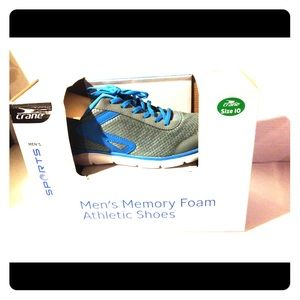 Memory foam athletic shoes 10 men's